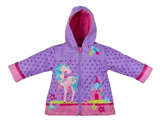 Impermiable Forrado Para Niña De Unicornio Tallas 2 A 6 Años