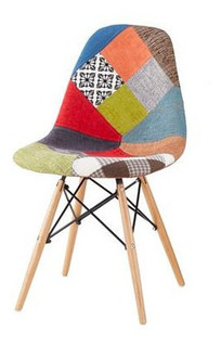 Silla Eames 2 Unidades Patchwork Colores