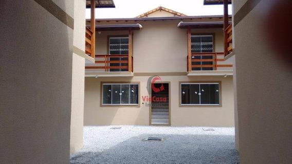 Casa Tipo Apartamento, 2 Quartos, Extensão Serramar, Rio Das Ostras, Rj - Ca0021