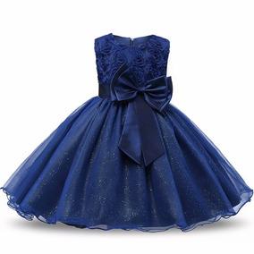 Vestido de dama de honra azul e dourado