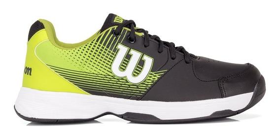 Tênis Wilson Ace Plus Preto E Verde Limão