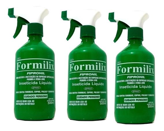 3 Formilix Original Aplicador 500ml Formiga Cupim Carrapato