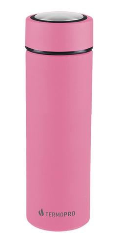 Squeeze Garrafa Térmica Rosa Inox 500ml Termopro