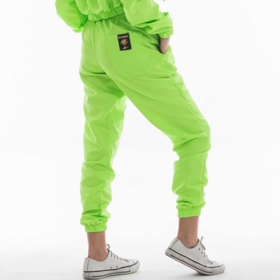 Pantalón Verde Neón Mujer - Urban Mykonos