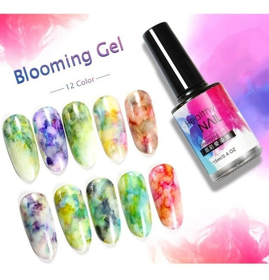 Tinta Efecto Acuarela Marmol Esmalte Blooming Gel Watercolor