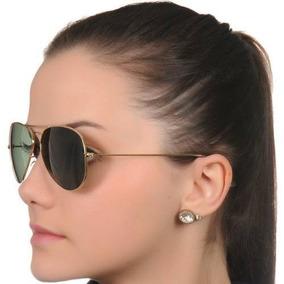 51833adcb Óculos De Sol Feminino Moda Verão 2018 Lentes Verdes Gold