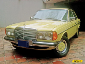 Mercedes Benz 300d (123.130) - Placa Azul Antiguo Y Clásico