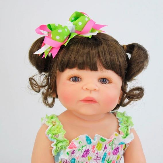 Bebe Reborn 55cm Silicone Brinquedo Boneca Menina Baby Ric