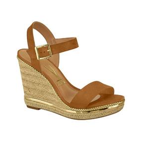 a89250b0ed Sandália Anabela Vizzano Caramelo Camurça - Sapatos com o Melhores ...