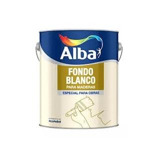 Fondo Sintetico Blanco Para Maderas 4 L Alba Standard Mm