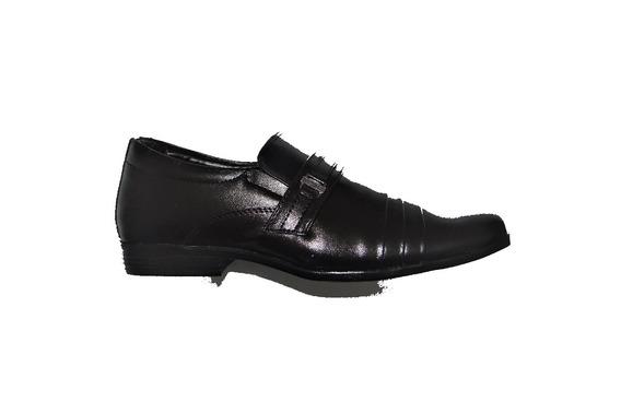 Sapato Social Preto Em Courino