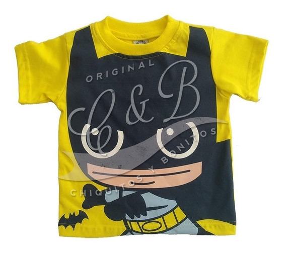 Playera Batman Cabezon Original Dc Comics