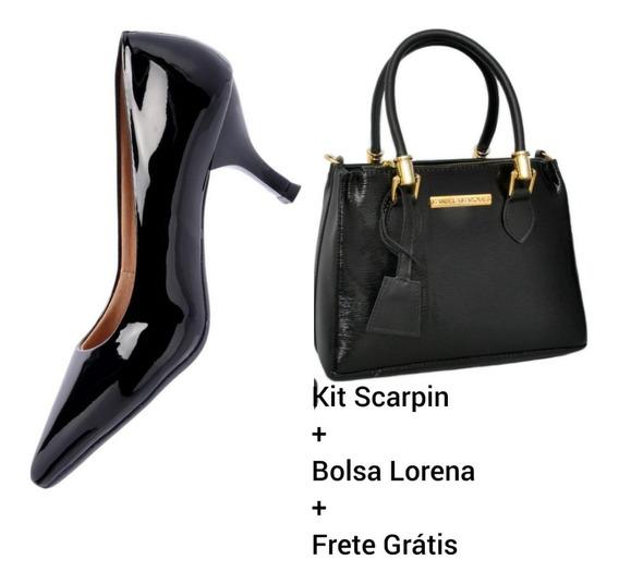 Kit Sapato Feminino Scarpin + Bolsa 2019 Lançamento