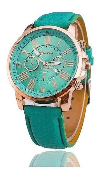 Relógio Feminino Geneva Verde Claro - Promoção