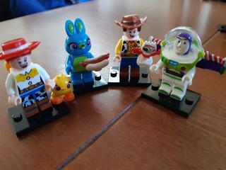 Mini Figuras 4 Toy Story 4 Buzz, Forky, Jessie, Dicky Bunny.