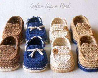 2ecd601f96 Mocassim Para Bebês Sapato De Crochê Recém Nascido - R  36