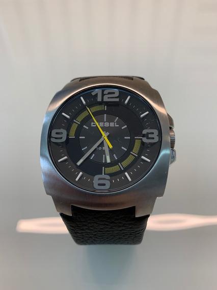 Relógio Diesel Dz1109 Pulseira De Couro À Prova D