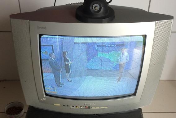 Tv Philips 14 Polegadas Com Controle!