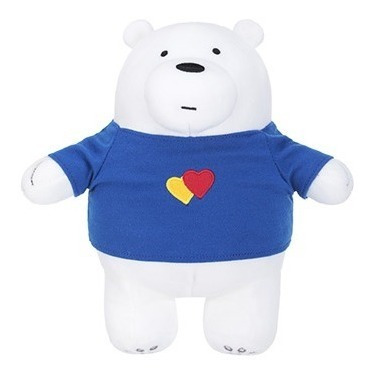 Pelúcia Ursos Sem Curso Miniso - Polar