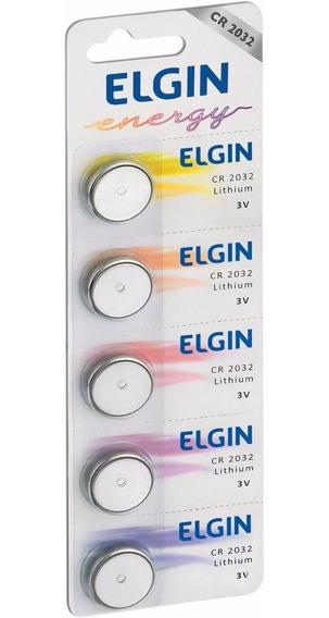 Bateria De Litio Cr2032 - Elgin - Embalagem Com 5 Unidades