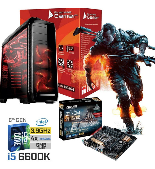 Pc Cpu Gamer I5 6600k + Asus Z170 + 8gb Ddr4