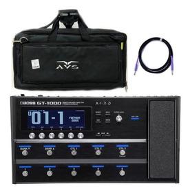 Kit Pedaleira Roland Gt1000 Para Guitarra + Bag + Cabo P10