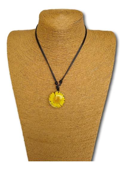 Colar Flor Margarida/ Girassol Amarelo Ref: 9867 - Unidade