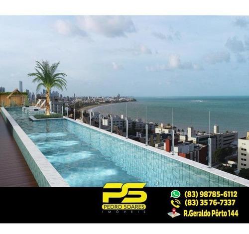 Apartamento Com 3 Dormitórios À Venda, 82 M² Por R$ 370.000 - Manaíra - João Pessoa/pb - Ap1764
