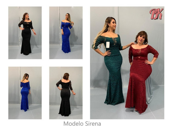 Vestido De Fiesta Modelo Sirena