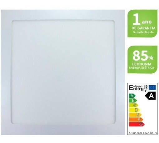 Luminaria Plafon Led 25w Embutir Maxtel Quadrado Branco Frio