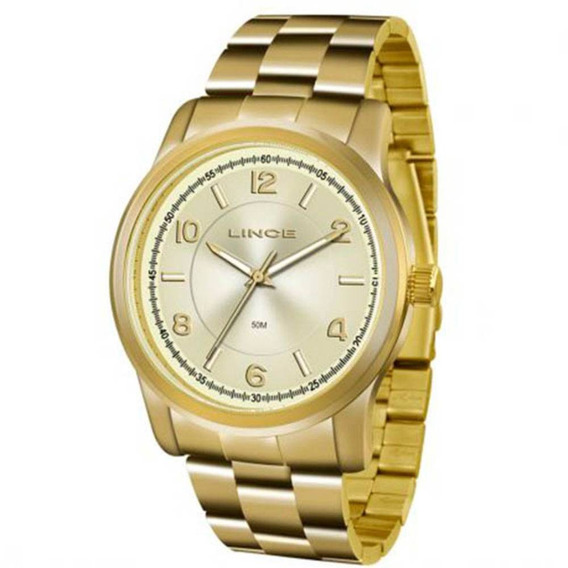 Relógio Lince Feminino Dourado Lrgj161l-s2kx