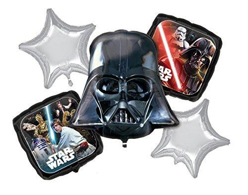 El Clsico Ramo De Globos De Star Wars, Darth Vader, Inc...