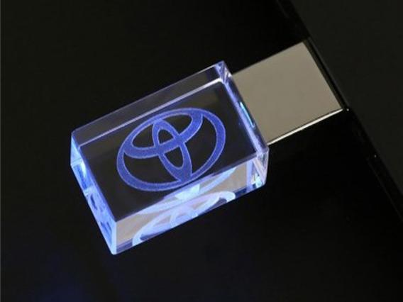 Pen Drive 16gb Cristal Toyota Azul + Caixa Portátil