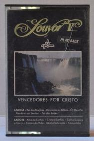 Fita K7 - Vencedores Por Cristo Louvor V - 1988 - Play-back