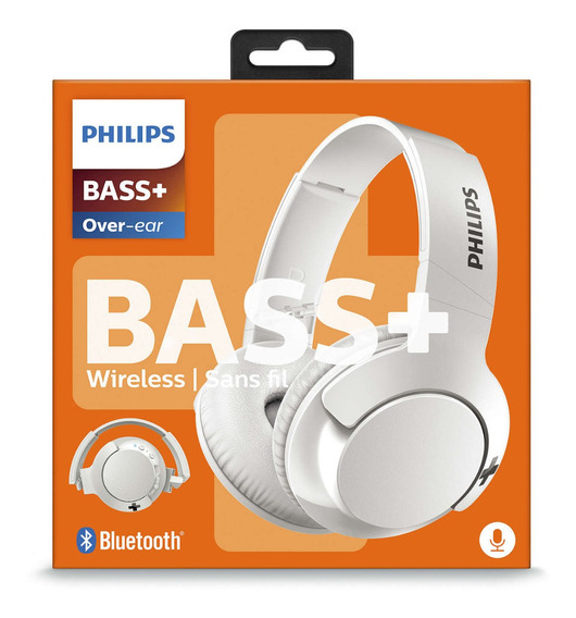 Fone Ouvido Sem Fio Bluetooth On-ear Bass+ Branco