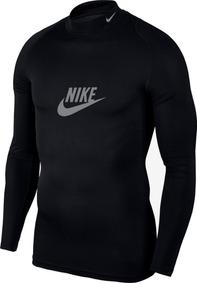 Playera Nike Manga Larga Cuello Alto Compresión