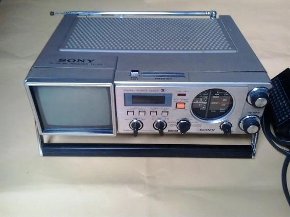 Micro Tv Sony Receiver Tv Fm Am Japão Anos 60.leia