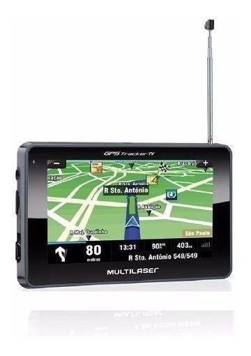 Gps Multilaser Tracker Iii Tela 4.3 Preto Tv Dig Fm Gp034