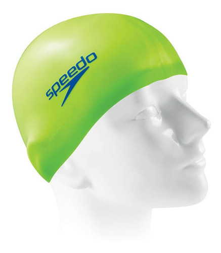 Imagem 1 de 1 de Touca Esportiva Silicone Verde Neon Tamanho Único Speedo