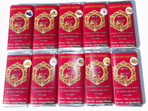 Imagen 1 de 4 de Pack X 12 Chocolate 85% Cacao Stevia C Frutos Secos Vs  1 Kg