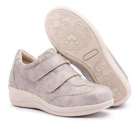 Sapato Tênis Feminino Salto Anabela Confort Macio 4 Cores