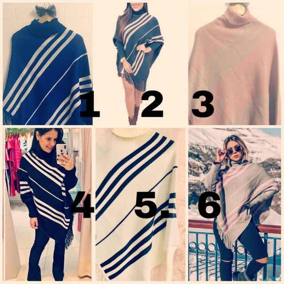 10 Poncho Feminino Tricot Kimono Frio Revenda Inverno