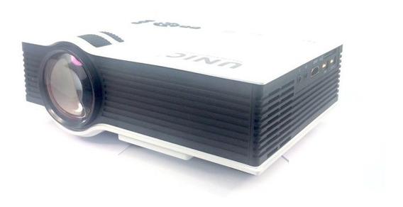 Mini Projetor Portatil Led 130pol 800lumens Unic Uc40 Hdmi Data Show