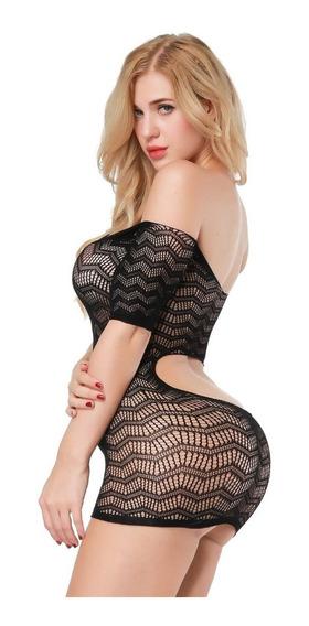 Erotico Bodystocking Minifalda Sexy Lenceria Atrevida 06
