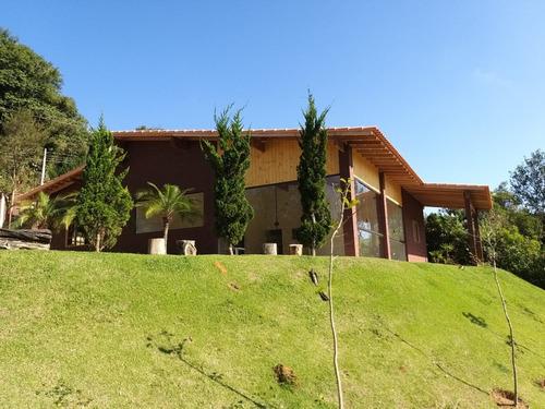 Imagem 1 de 14 de Chácara 4.000 M2, Casa Sede, Churrasqueira, Piscina + Piscina Infantil, Lago, Poço Artesiano, 3 Baias - Ch00104 - 69690800