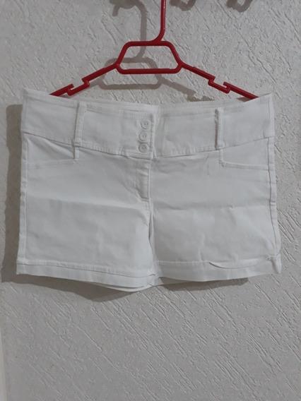Short Para Dama Blanco Casual Como Ropa Mujer