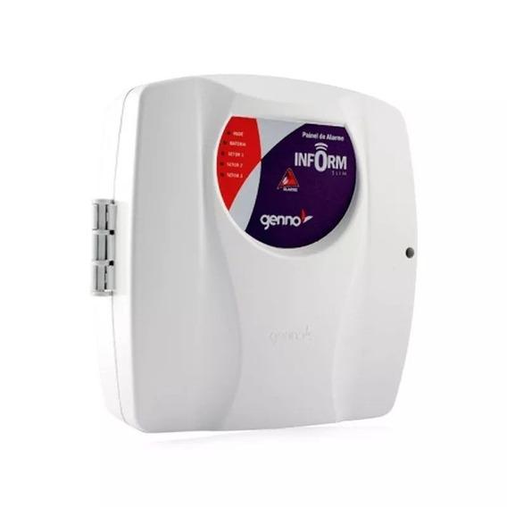 Central De Alarme Residencial Genno Inform Slim 3 Setores
