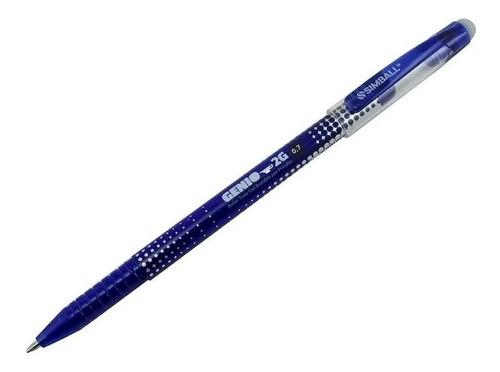 Boligrafo Simball Genio 2g Borrable Azul