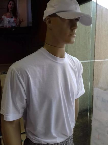 5 Camiseta Branca Poliviscose Uniforme