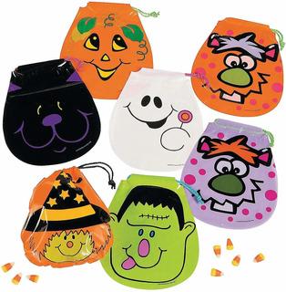 Bolsas Para Chucherías De Halloween Con Cordones - 22 Vrds